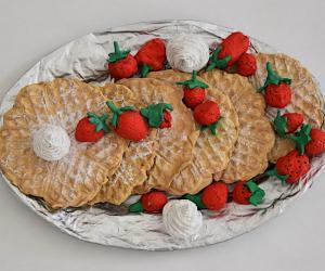 Typisch belgisch: Waffeln mit Erdbeeren
